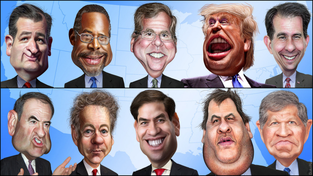 FOX News Debate Cast: The Top Ten, photo credit: DonkeyHotey, Flickr